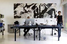 Großzügiger Arbeitsbereich - Haus des Jahres 2009: 1. Platz 3 - [SCHÖNER WOHNEN] #office #pong #furniture #desk #architecture #table #ping #work