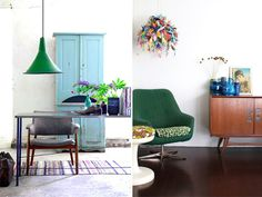 GREEN ACCENTS #interior #design #decor #deco #decoration