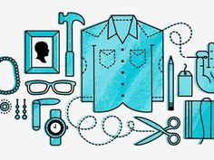 Dribbble - Etsy Illustration by Ryan Feerer #illustration #objects #shirt
