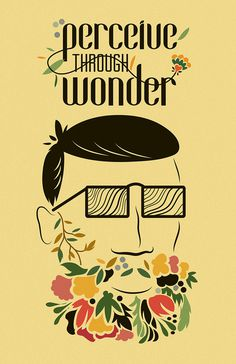 Perceive Through Wonder on Behance #graphic design #illustration #poster #seattle #flowers #aiga #wonder #perceive #through #wayzgoose