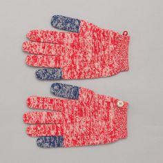 Folk Block Gloves in Twisted Multi