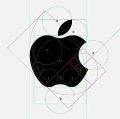 FFFFOUND! | iainclaridge.net #guides #apple #circles #structure #logo #goldenratio
