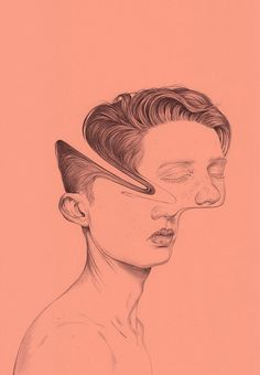Illustration by Henrietta Harris #portrait #illustration