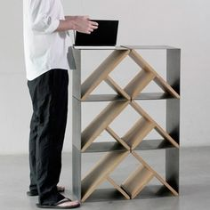 Steel stool | Minimalissimo #steel #wood #minimal #stool