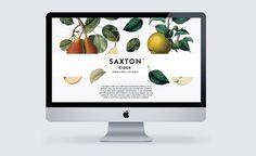 Saxton Cider web layout - FormFiftyFive - Bradley Rogerson #cider #saxton