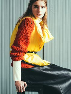 Marine van Outryve by Axl Jansen for Qvest Magazine #fashion #model #photography #girl