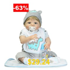 NPK #Silicone #Golden #Hair #Reborn #Baby #Doll #Toy #Gift #- #COLORMIX