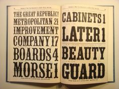 Daily Type Specimen | Specimens of Wood Type Manufactured by Heber... #type #specimen #typography