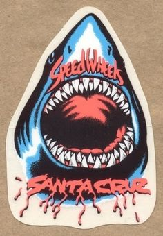 FFFFOUND! | Gallery - Category: Santa Cruz - Sticker: Santa Cruz - Wheels Speed Wheels Shark #shark