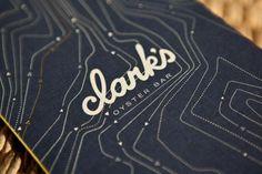 Clark's Oyster Bar :: ATX #script #menu #restaurant #austin #logo