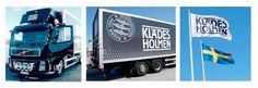 Klädesholmen Seafood Lastbil & flagga #truck #visual #flag #tradition #identity #logo
