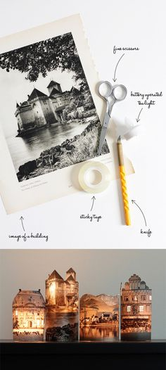 #DIY lamp #recycle old photographs