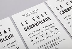 Warby Parker (new) - Lisa Hedge #typography