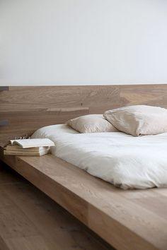Lycabettus Penthouse by Esé Studio. #wood #bedframe #minimalism