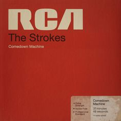 Comedown Machine Cover Design #record #cover #retro #typography