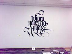 FaithHopeLove exhibition id & calligraffiti performance on the Behance Network