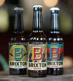 Brixton, beer, bottle, B, packaging, label
