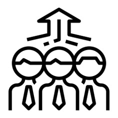 See more icon inspiration related to leadership, team, teamwork, group, person, Cooperation, humanpictos, collaboration, men, networking, people, up arrow and arrows on Flaticon.
