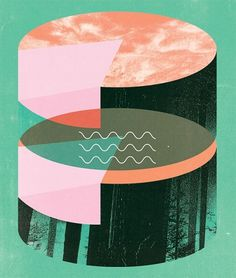 Twin Peaks Inspired Illustrations of Holly Wales | Ape on the Moon: Contemporary Visual Arts #illustration #geometric