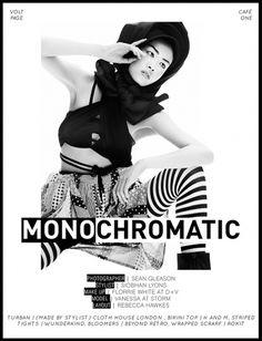 Monochromatic | Volt Café | by Volt Magazine #beauty #white #design #graphic #black #photography #art #and #fashion #layout #typography