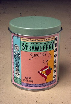 Seymour Chwast, tin, strawberry
