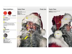 SANTA CLAUS on Behance #golden #ratio