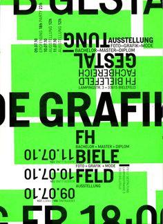 Gestaltung FH Bielefeld, Abschluss 2010, Poster, Neon