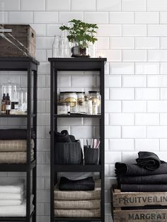 The Design Chaser #white #house #home #black #bathroom