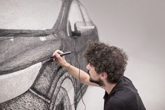 Nissan has created 3D pen sculpture using innovative 3Doodler 3D pen technology