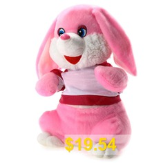 14.5 #inch #Dog #Shape #Plush #Toy #Musical #Shivering #Head #Baby #Stuffed #Doll #- #PINK