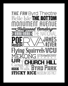RVA Type Poster #print #design #collateral #poster #type #typography