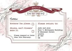 RSVP 2 | Flickr - Photo Sharing! #wedding #rsvp