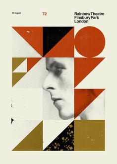 David Bowie by Concepcion Studio #poster #screenprint