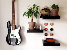 Money Tree #interior #bass #fender #tins #plants #tree #money #design #sunglasses #hats #typewriter