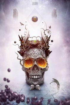 Juba #digital #illustration #art #skull