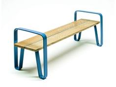 Banco en acero y madera sin respaldo COURT | Banco sin respaldo by LAB23 - Urban Smart Living