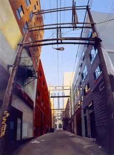 Realistic Urban Paintings by Graeme Berglun_7 #urban #realistic #city #painting #art