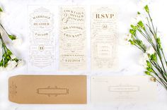 Stunning Wedding Invitation Design by Caitlin Workman