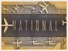The National // North American Tour // Poster by DKNG #illustration