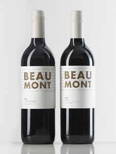 Beaumont Wine Packaging Design by Studio Marché // Brand and packaging design for a South Australian winery. Check out Studio Marché's