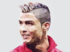 Cristiano Ronaldo Lowpoly #polygon #illustration #portrait #ronaldo #lowpoly #cristiano