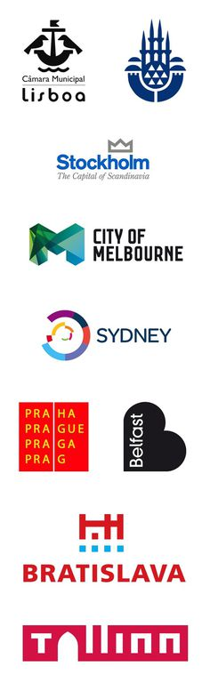 city logos #branding #city #design #travel #logo