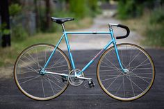 Chris' Blue Nagasawa Track #bicycle #track #bike #fixed