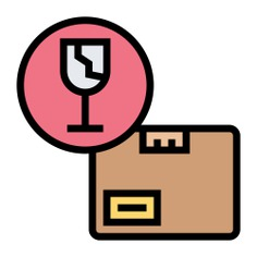See more icon inspiration related to box, caution, shipping and delivery, packaging, fragile, package, delivery and warning on Flaticon.
