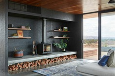 living room, Off-Grid Retreat / Ben Callery Architects