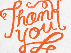 Thank_you #typography #hand drawn type