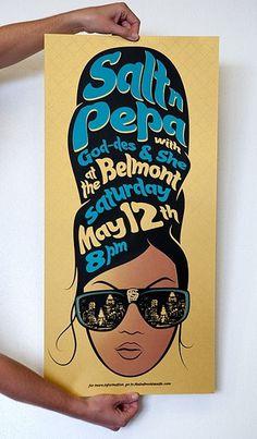 Sanctuary Printshop » Salt-N-Pepa screen printed posters for The Belmont