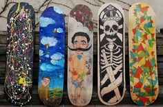 Kuc decks #qc #jakub #decks #handmade #skateboard #skull