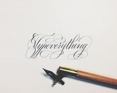 Typeverything.com Typeverything by Joan Quirós. #calligraphy #script