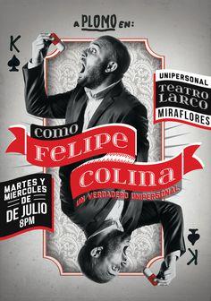 Como Felipe Colina #card #magic #poster #show #peru #typography